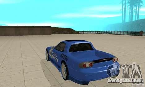 Mazda RX-7 Pickup para la visión correcta GTA San Andreas