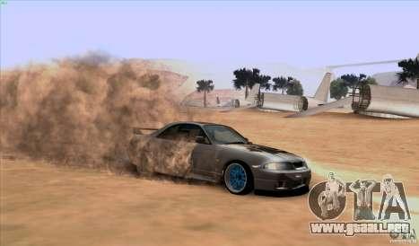 Nissan Skyline GTR 33 Fatlace para visión interna GTA San Andreas
