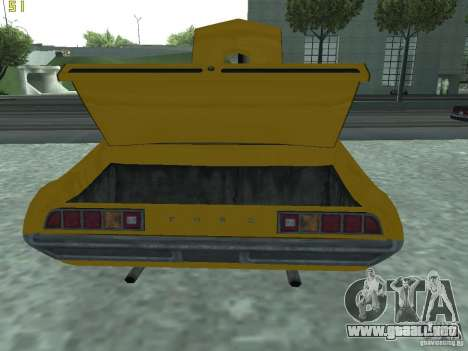 Ford Torino 70 para GTA San Andreas vista hacia atrás