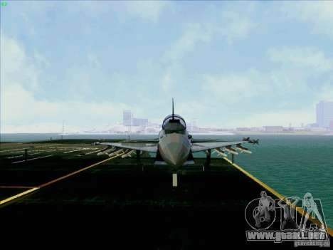 Eurofighter-2000 Typhoon para GTA San Andreas vista hacia atrás