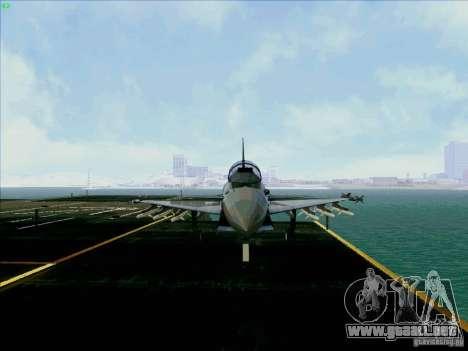 Eurofighter-2000 Typhoon para GTA San Andreas vista hacia atrás