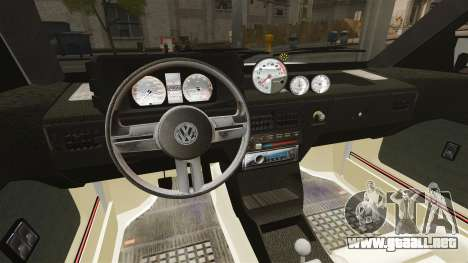 Volkswagen Saveiro 1990 Turbo para GTA 4 vista lateral