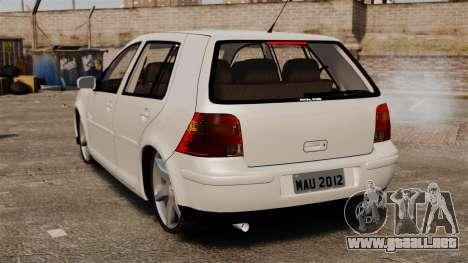 Volkswagen Golf Flash Edit para GTA 4 Vista posterior izquierda