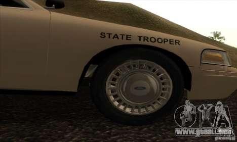 Ford Crown Victoria Iowa Police para la visión correcta GTA San Andreas