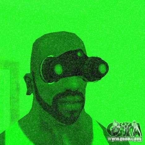 Goggles HD para GTA San Andreas sucesivamente de pantalla