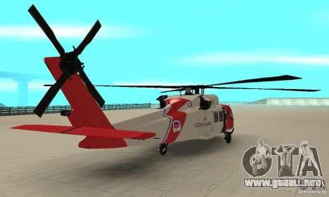 HH-60 Jayhawk USCG para GTA San Andreas left