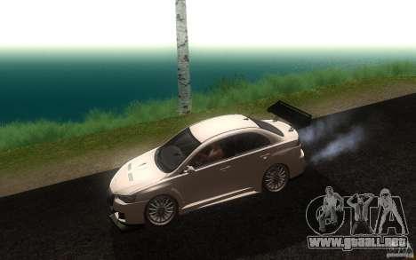 Mitsubishi Lancer EVO X drift Tune para GTA San Andreas left
