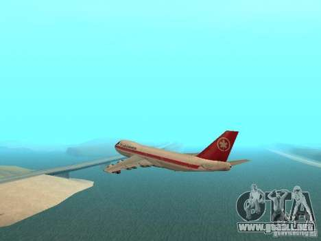 Boeing 747 Air Canada para GTA San Andreas left