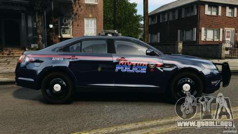 Ford Taurus 2010 Atlanta Police [ELS] para GTA 4 left