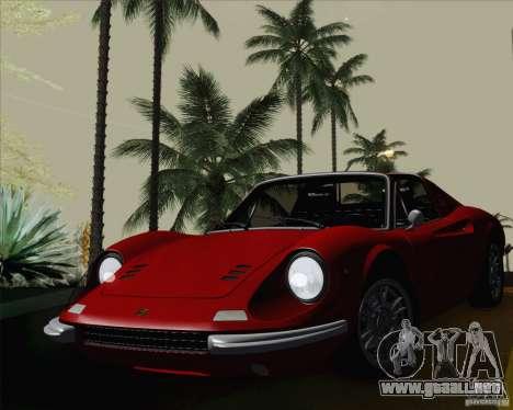 Ferrari 246 Dino GTS para GTA San Andreas vista hacia atrás