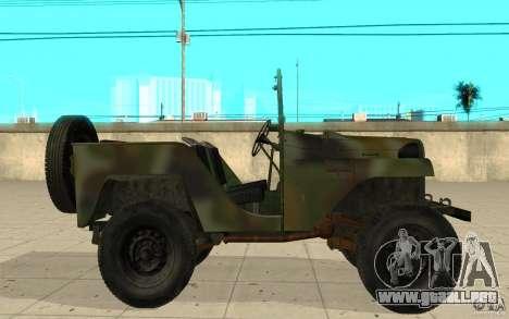 Gaz-64 piel 2 para GTA San Andreas left