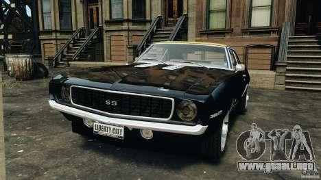 Chevrolet Camaro SS 350 1969 para GTA 4