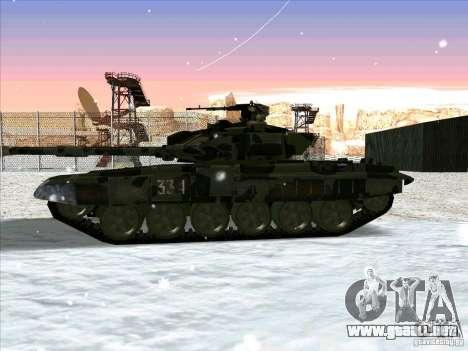 T-90 de Battlefield 3 para GTA San Andreas vista posterior izquierda
