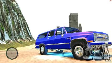 Chevrolet Suburban 1986 para GTA 4 vista interior