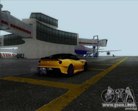 Ferrari Challenge-2009 599XX para GTA San Andreas vista posterior izquierda