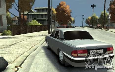 Volga GAZ 31105 para GTA 4 Vista posterior izquierda
