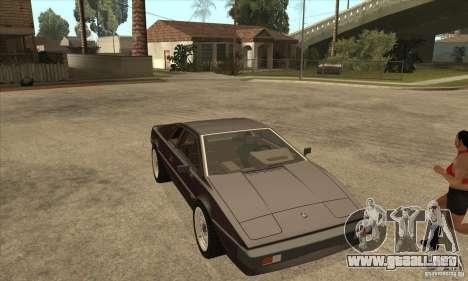 Lotus Esprit S3 para GTA San Andreas vista hacia atrás