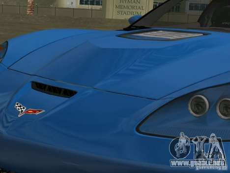 Chevrolet Corvette ZR1 para GTA Vice City vista interior