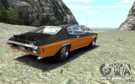Chevrolet Chevelle SS 1970 para GTA 4 vista hacia atrás