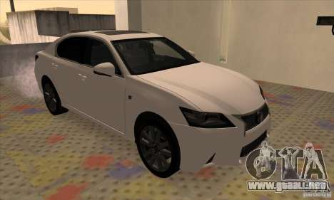 Lexus GS350 F Sport Series IV 2013 para GTA San Andreas left