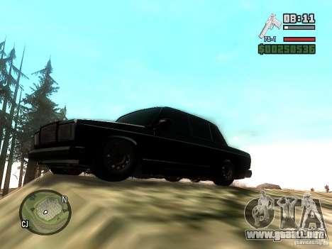 VAZ 2107 para GTA San Andreas vista hacia atrás