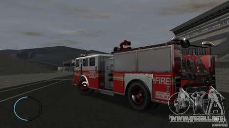 NEW Fire Truck para GTA 4 Vista posterior izquierda