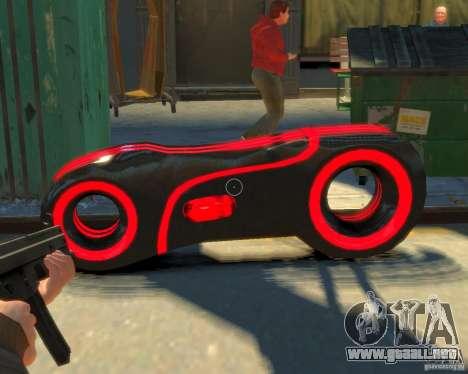 Motocicleta del trono (neón rojo) para GTA 4 visión correcta