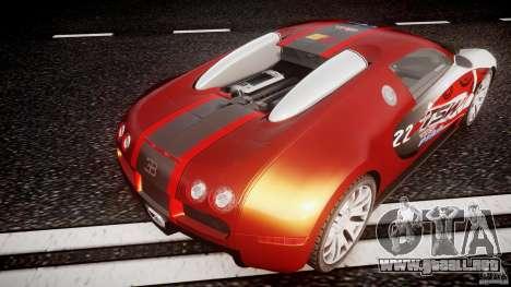 Bugatti Veyron 16.4 v1 para GTA 4 vista desde abajo