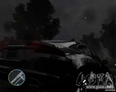 Jaguar XF-R para GTA 4 vista hacia atrás