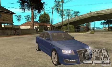 Audi S6 Limousine V1.1 para GTA San Andreas vista hacia atrás