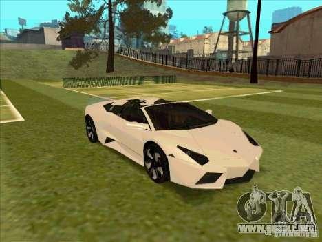 Lamborghini Reventon Convertible para visión interna GTA San Andreas