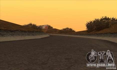 La ruta de NFS Prostreet para GTA San Andreas quinta pantalla