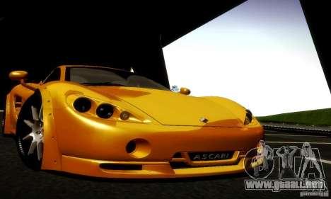 Ascari KZ1R Limited Edition para vista lateral GTA San Andreas