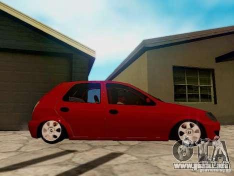Chevrolet Celta 1.0 VHC para GTA San Andreas vista hacia atrás