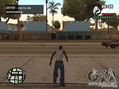 PARKoUR para GTA San Andreas segunda pantalla