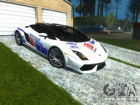 Lamborghini Gallardo LP560-4 para la vista superior GTA San Andreas
