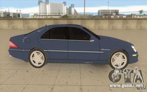 Mercedes-Benz S-Klasse para visión interna GTA San Andreas