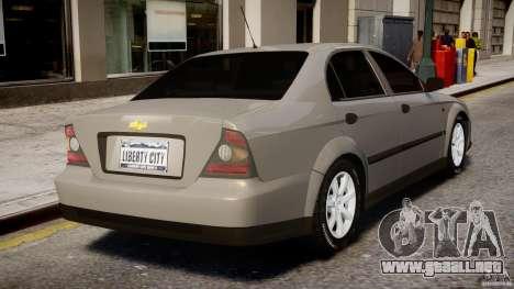 Chevrolet Evanda para GTA 4 interior