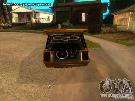VAZ 2104 tuning para GTA San Andreas vista hacia atrás