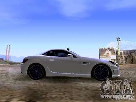 Mercedes-Benz SLK55 AMG 2012 para visión interna GTA San Andreas