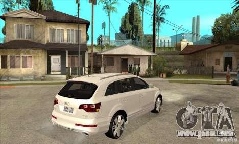 AUDI Q7 V12 V2 para la visión correcta GTA San Andreas