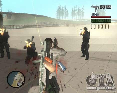 Variedad de armas en Swat para GTA San Andreas