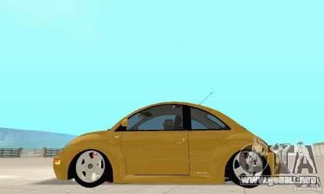 Volkswagen New Beetle GTi 1.8 Turbo para GTA San Andreas vista posterior izquierda