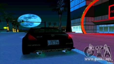 Nissan 350Z JDM para vista inferior GTA San Andreas