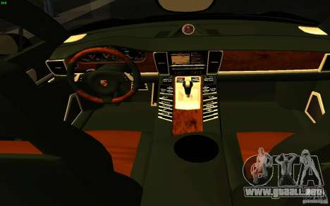 Porsche Panamera Turbo para visión interna GTA San Andreas