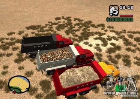 Camión KrAZ 65055 para la visión correcta GTA San Andreas