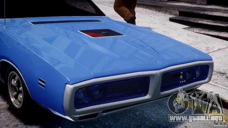Dodge Charger RT 1971 v1.0 para GTA 4 vista desde abajo