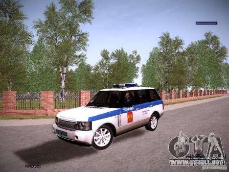 Range Rover Supercharged 2008 policía Departamen para GTA San Andreas