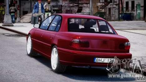 Opel Omega 1996 V2.0 First Public para GTA 4 Vista posterior izquierda