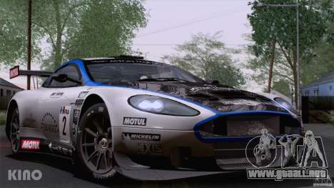 Aston Martin Racing DBRS9 GT3 para la vista superior GTA San Andreas